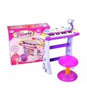 Muzikinė klaviatūra su mikrofonu violetinė B15