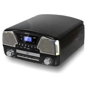 Music center Camry Turntable with MP3/USB/SD/recording Muzikiniai centrai, patefonai