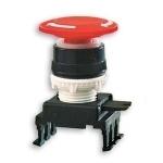Mygtukas grybas, be raktelio, raudonas, blokuojamas pasukant dešinėn, įleidžiamas, HH55C1, ETI 04770023 Buttons