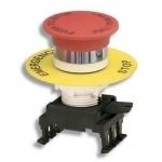 Mygtukas grybas, be raktelio, raudonas, blokuojamas patraukus, įleidžiamas, HG55B1, ETI 04770024