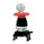 Mygtukas grybas, su rakteliu, raudonas, blokuojamas su rakteliu, įleidžiamas, HQ55C1, ETI 04770026