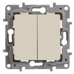 Mygtukas įleidžiamas, 6AX - 250Vmontavimas varžtais, kreminis, Legrand Niloe 664607