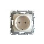 Mygtukas įleidžiamas, IP44, apšviestas, montavimas varžtais, kreminis, Legrand Niloe 664825