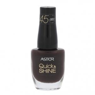 Nagų lakas Astor Quick & Shine Nail Polish Cosmetic 8ml Shade 616 Dark Chocolate Dekoratyvinė kosmetika nagams