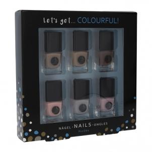 Nagų lakų rinkinys 2K Let´s Get Colourful! Nudes Nail Polish Cosmetic 5ml Dekoratyvinė kosmetika nagams