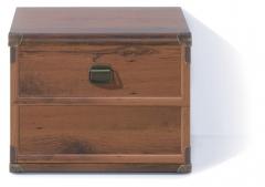 Naktinė spintelė Indiana JKOM1K ąžuolas suter Baldų kolekcija Indiana
