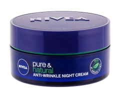 Naktinis odos cream Nivea Pure & Natural Anti-Wrinkle Night Skin Cream 50ml Creams for face
