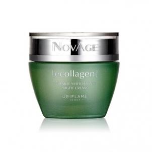 Naktinis švelninamasis kremas nuo raukšlių Oriflame NovAge Ecollagen (Wrinkle Smoothing Night Cream) 50 ml Kremai veidui