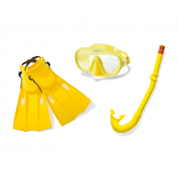Nardymo komplektas Intex Master Class Swim Set 55655 Yellow Nardymo komplektai, reikmenys