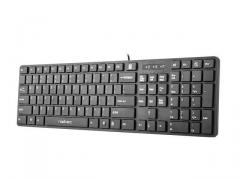Natec Keyboard STARFISH 2 SLIM MULTIMEDIA BLACK USB US Layout
