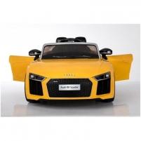 Naujausias licencijuotas geltonas elektromobilis AUDI R8 (WDHL1818) Automašīnas bērniem