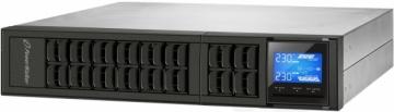 Nepertraukiamo maitinimo šaltinis Power Walker UPS On-Line 1000VA, 19 2U, 3x IEC, USB/RS-232, LCD, Rack/Tower