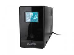 UPS Energenie-Gembird Line-Interactive,650VA,2xIEC,1xSchuko 230V OUT,LCD Ups elektroapgāde.