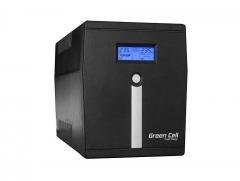 Nepertraukiamo maitinimo šaltinis UPS Green Cell Microsine z LCD 2000VA UPS maitinimo šaltiniai