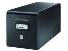 UPS Power Walker Line-Interactive 1000VA 2x SCHUKO, 2x IEC, RJ11/RJ45, USB, LCD