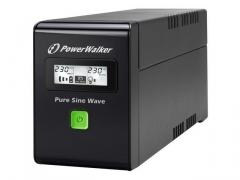 UPS Power Walker Line-Interactive 600VA 2x PL 230V, PURE SINE, RJ11/RJ45,USB,LCD