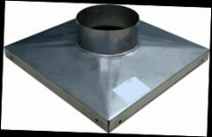 Stainless steel cover plate for plastering FIBO D140 mm