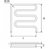 Nerūdijančio plieno gyvatukas Elonika EN 50X62 kairinis/dešinini