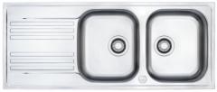 Nerūdijančio plieno universali plautuvė FRANKE Euroform EFX621 be ventilio (su 2 skylėmis)
