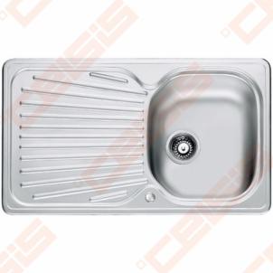 Nerūdijančio plieno universali plautuvė FRANKE Mikado MOX611 be ventilio (su 2 skylėmis) Nerudyjančio plieno virtuvės plautuvės