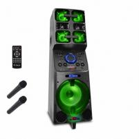 Nešiojama garso kolonėlė iDance Megabox 8000 1000 W, Portable, Wireless connection, Black, Bluetooth Nešiojamos garso kolonėlės