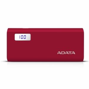 Nešiojamas įkroviklis ADATA P12500D Power Bank 12500mAh, Red Išorinės baterijos (Power bank)