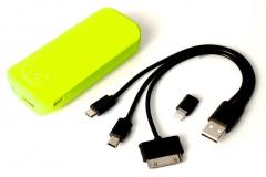 Nešiojamas įkroviklis PowerNeed PowerBank 5600mAh, USB2.1A - planš. komp., telef., žalias