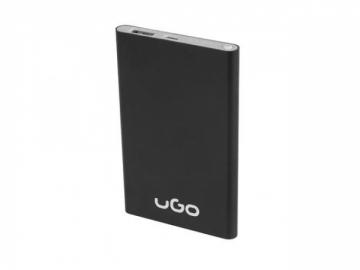Nešiojamas įkroviklis UGO Power bank 5000mAh, 1x USB, Black Išorinės baterijos (Power bank)