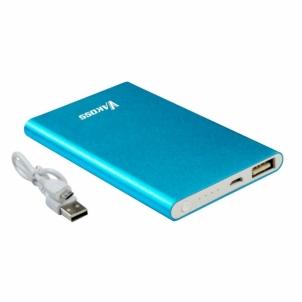 Nešiojamas įkroviklis Vakoss power bank 5000mAh, Aliuminis, Mėlynas Išorinės baterijos (Power bank)