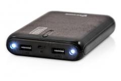 Nešiojamas įkroviklis Vakoss power bank TP-2569K, 10000mAh, case, Juodas Išorinės baterijos (Power bank)