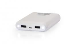 Nešiojamas įkroviklis Vakoss power bank TP-2569WA, 10000mAh, case, Balta Išorinės baterijos (Power bank)