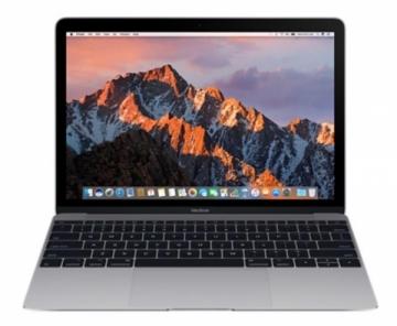 Nešiojamas kompiuteris MacBook 12 Intel Core m3 1.2GHz/8GB/256GB SSD/HD 615 - Space Gray Nešiojami kompiuteriai