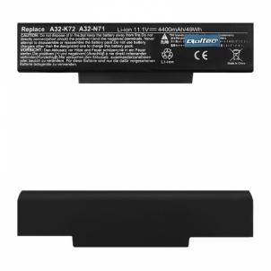 Nešiojamo kompiuterio baterija Qoltec Long Life Notebook Battery Asus A32-K72 | 11.1 V | 4400 mAh