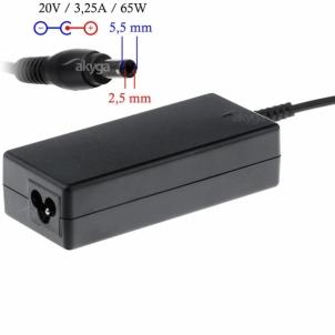 Nešiojamo kompiuterio pakrovėjas Akyga notebook power adapter AK-ND-17 20V/3.25A 65W 5.5x2.5 mm FUJITSU SIEMENS