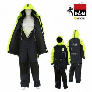 Neskęstantis kostiumas DAM Safety Boat 2-jų dalių geltonas-juodas Fisherman's suits, suits