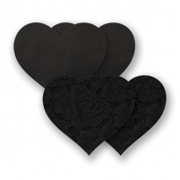 Nippies - Basic Black Heart - Širdelės, lipdukai krūtims Other sex products