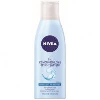 Nivea 2 in 1 Aqua Effect Normal to Combination Skin 200 ml Veido valymo priemonės