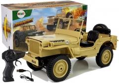 """Nuotoliniu būdu valdomas džipas """"4x4 Jeep"""", šviesiai rudas Rc cars for kids"""