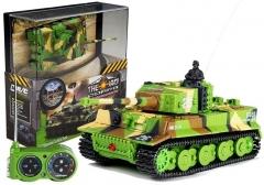 """Nuotoliniu būdu valdomas tankas """"Moro"""", žalias, 1:72 Rc tech for kids"""