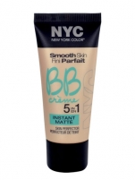 NYC New York Color BB Creme 5in1 Instant Matte Cosmetic 30ml Makiažo pagrindas veidui