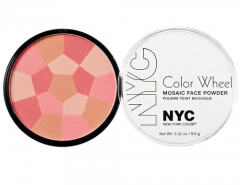 NYC New York Color Color Wheel Mosaic Face Powder Cosmetic 9g 723A Pink Cheek Glow Pudra veidui