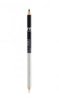 NYC New York Color Eyeliner Duet Cosmetic 1,4g 883 You´ve Got the Power Akių pieštukai ir kontūrai
