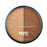 NYC New York Color Sun 2 Sun Bronzing Powder Cosmetic 6,2g 717A Bronze Gold Pudra veidui