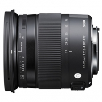 Sigma AF 17-70mm F2.8-4.0 DC MACRO OS HSM for Nikon, 17 Elements in 13 Groups, Angle of View: 72.4 - 20.2 degrees Lēcas