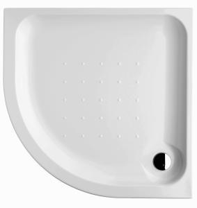 OLYMP pusapvalis pastatomas kampinis dušo padėklas 90x90x8 cm, 550 mm spindulio, akrilinis Shower tray