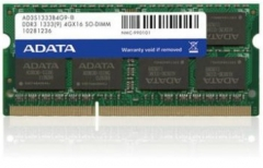 Operational memory DDR3 SODIMM Adata 8GB 1333MHz CL9 1.5V - Retail