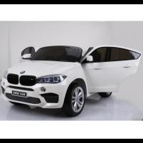 Originalus baltas elektromobilis BMW X6M 2199 su nuotolinio valdymo pultu (WDJJ2199) Cars for kids