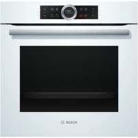 Oven Bosch HBG632BW1S Multifunctional, 71 L, White, activeClean pyrolysis, Rotary switch, Height 59,5 cm, Width 59,5 cm, Integrated timer