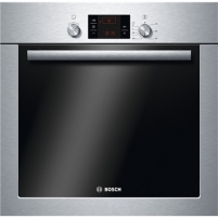 Orkaitė Bosch Oven HBA241350S Built-in, 66 L, Stainless steel, Eco Clean, A, Push-pull buttons, Height 60 cm, Width 60 cm, Integrated timer, Electric Įmontuojamos orkaitės
