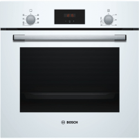 Orkaitė Bosch Oven HBF113BV0S Built-in, 66 L, White, A, Mechanical, Height 60 cm, Width 60 cm, Integrated timer, Electric Įmontuojamos orkaitės